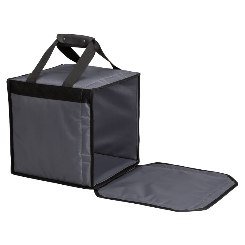 Rigid with magnetic closure delivery bags