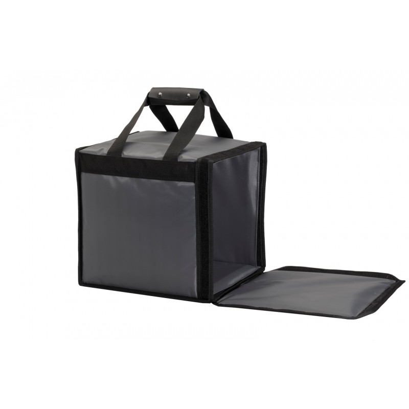 Rigid with velcro fastener delivery bags
